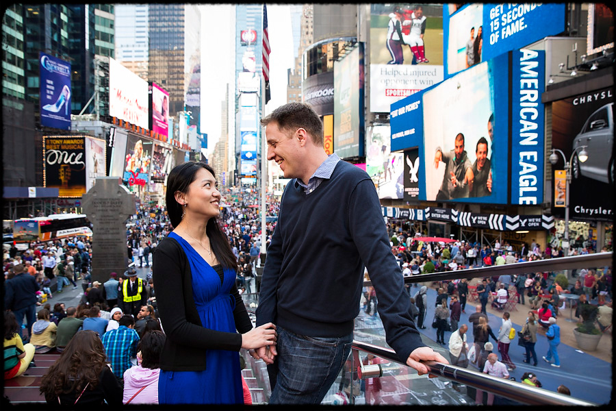 new york times square couple photo