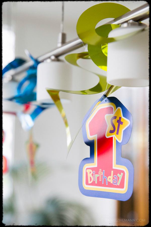 Baby Foto Erster Geburtstag Farbe Zahl Eins