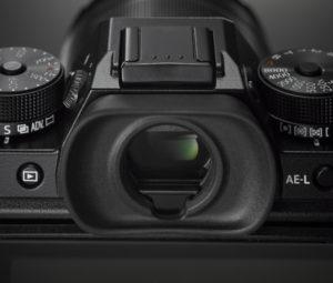 Das Standard-Sucherokular der Fujifilm X-T2 (Bild: fujifilm.ch)